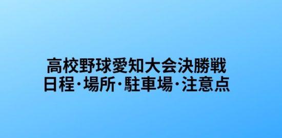 高校野球愛知大会決勝戦 日程 場所 駐車場 アクセス 注意点